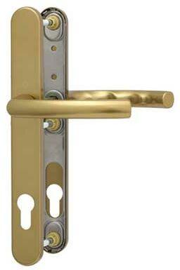 Klamka drzwiowa Lima na szyldzie PZ 92 mm F4/stare złoto