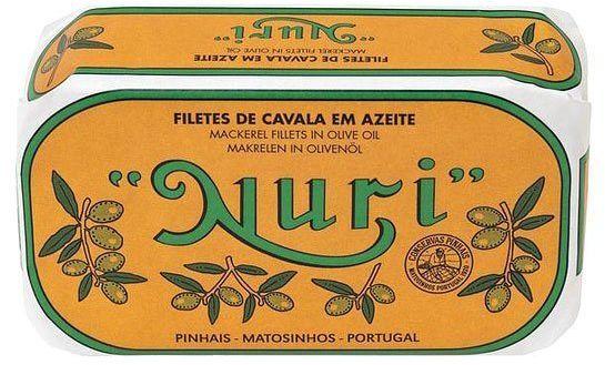 Filety z makreli portugalskie w oliwie z oliwek NURI 120g