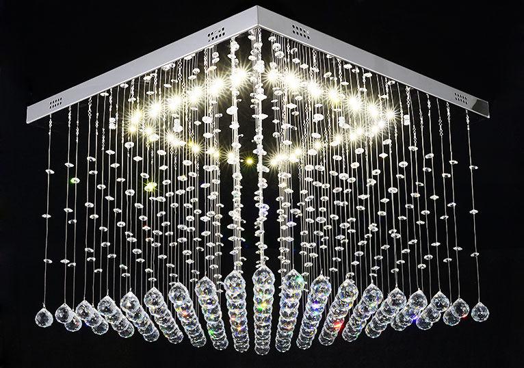 Żyrandol kryształowy LED 60x60 cm K027