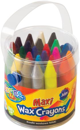 Kredki świecowe COLORINO Kids, Maxi, wiaderko (24kol) 65580PTR