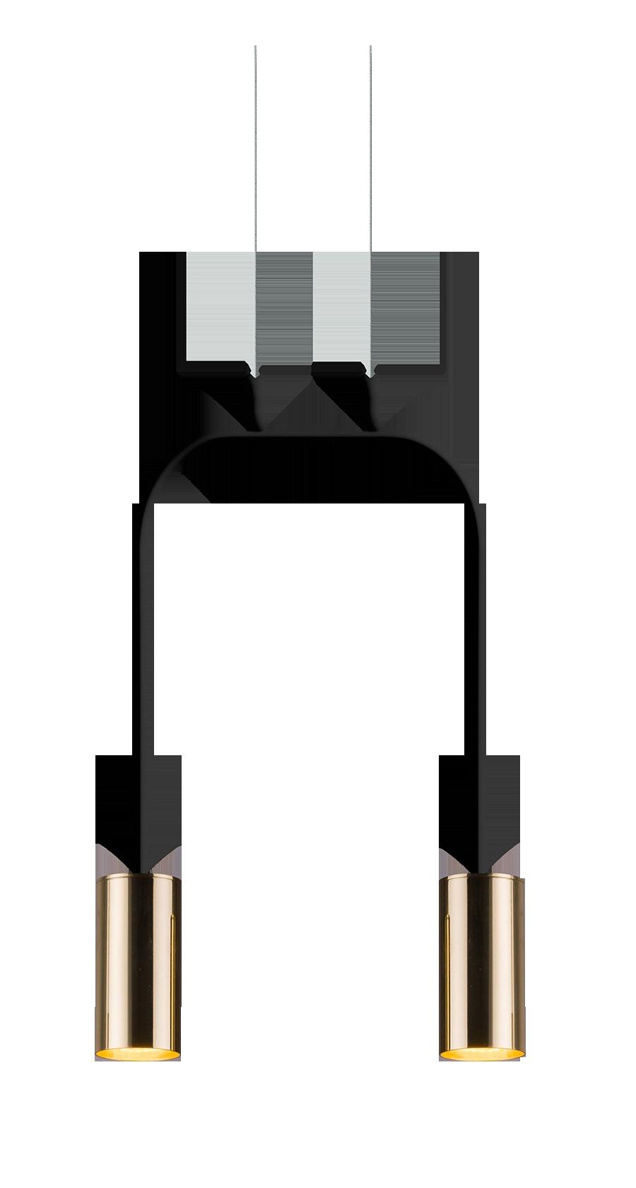 Lampa wisząca Vai 2 Czarny 0289 - Amplex // Rabaty w koszyku i darmowa dostawa od 299zł !