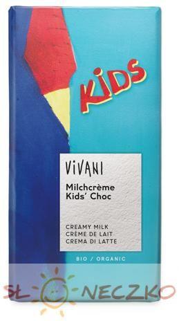 Czekolada mleczna dla dzieci BIO 100g Vivani
