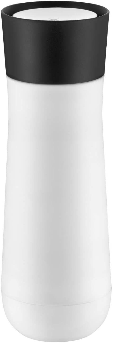 WMF Impulse kubek termiczny 350 ml, kubek termiczny z automatycznym zamknięciem, otwór do picia 360 , utrzymuje ciepło/zimne napoje przez 1-2 h, biały