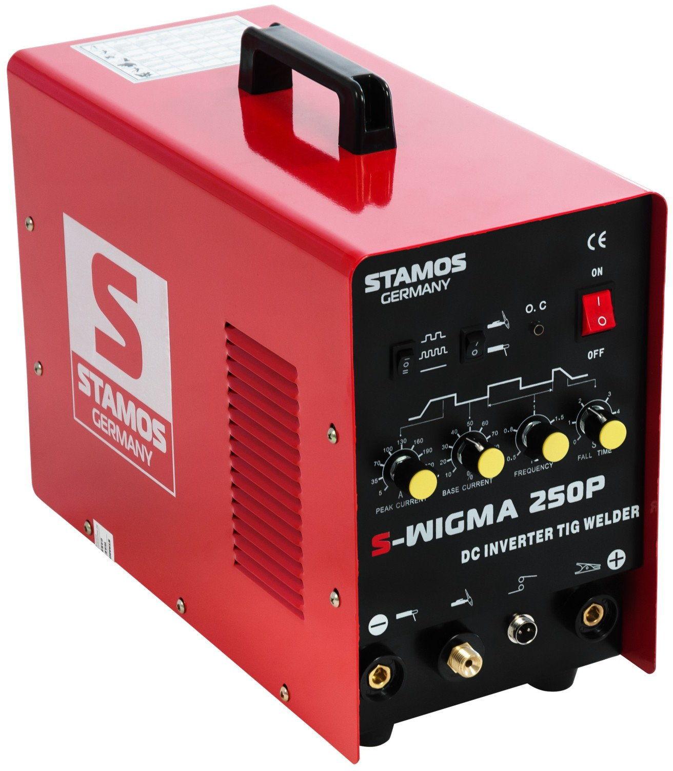 Spawarka TIG - 250 A - 230 V - Puls - PLUS maska spawalnicza - Firestarter 500 - Advanced - Stamos Basic - S-WIGMA 250P - 3 lata gwarancji/wysyłka w