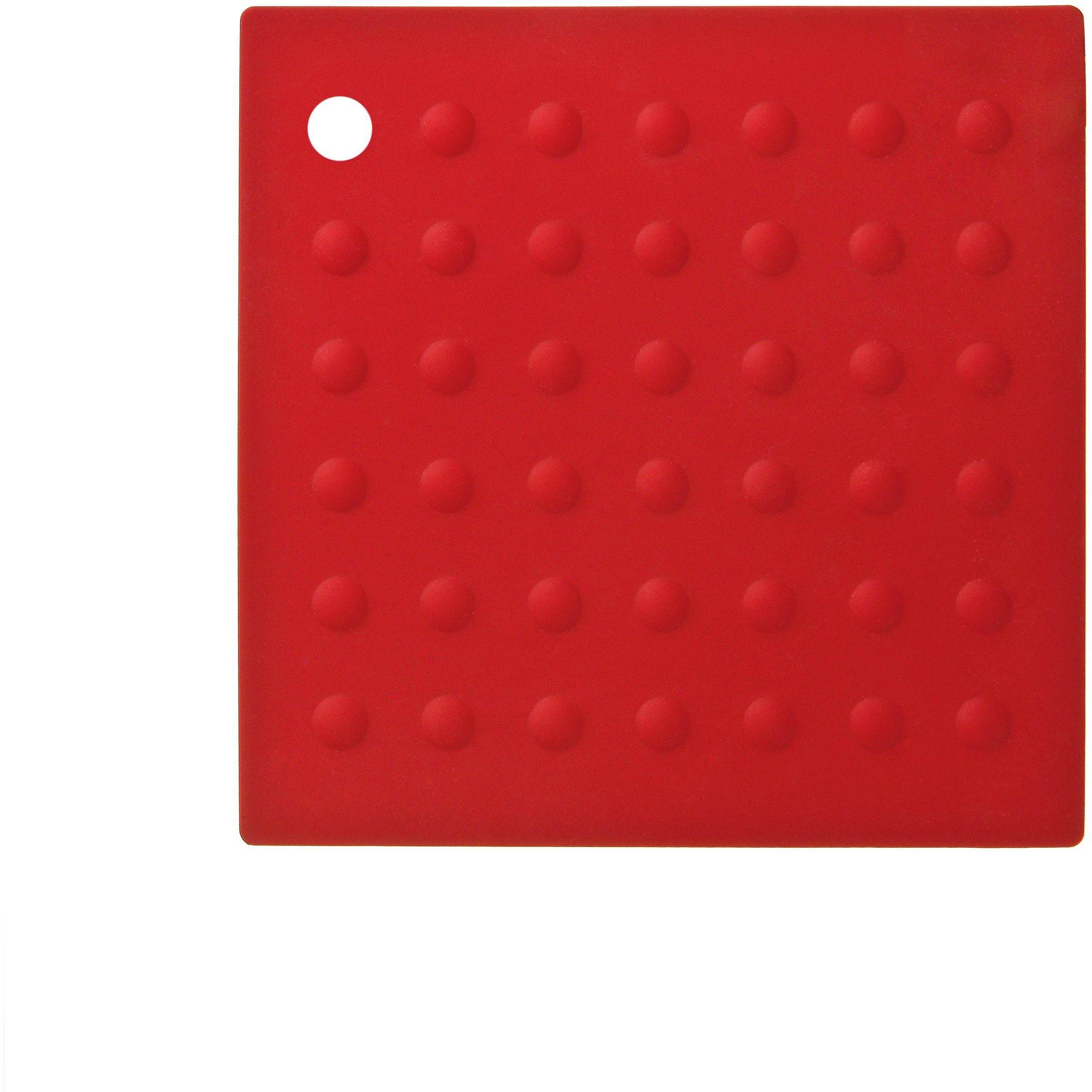 Premier Housewares Zing silikonowa podkładka - czerwona