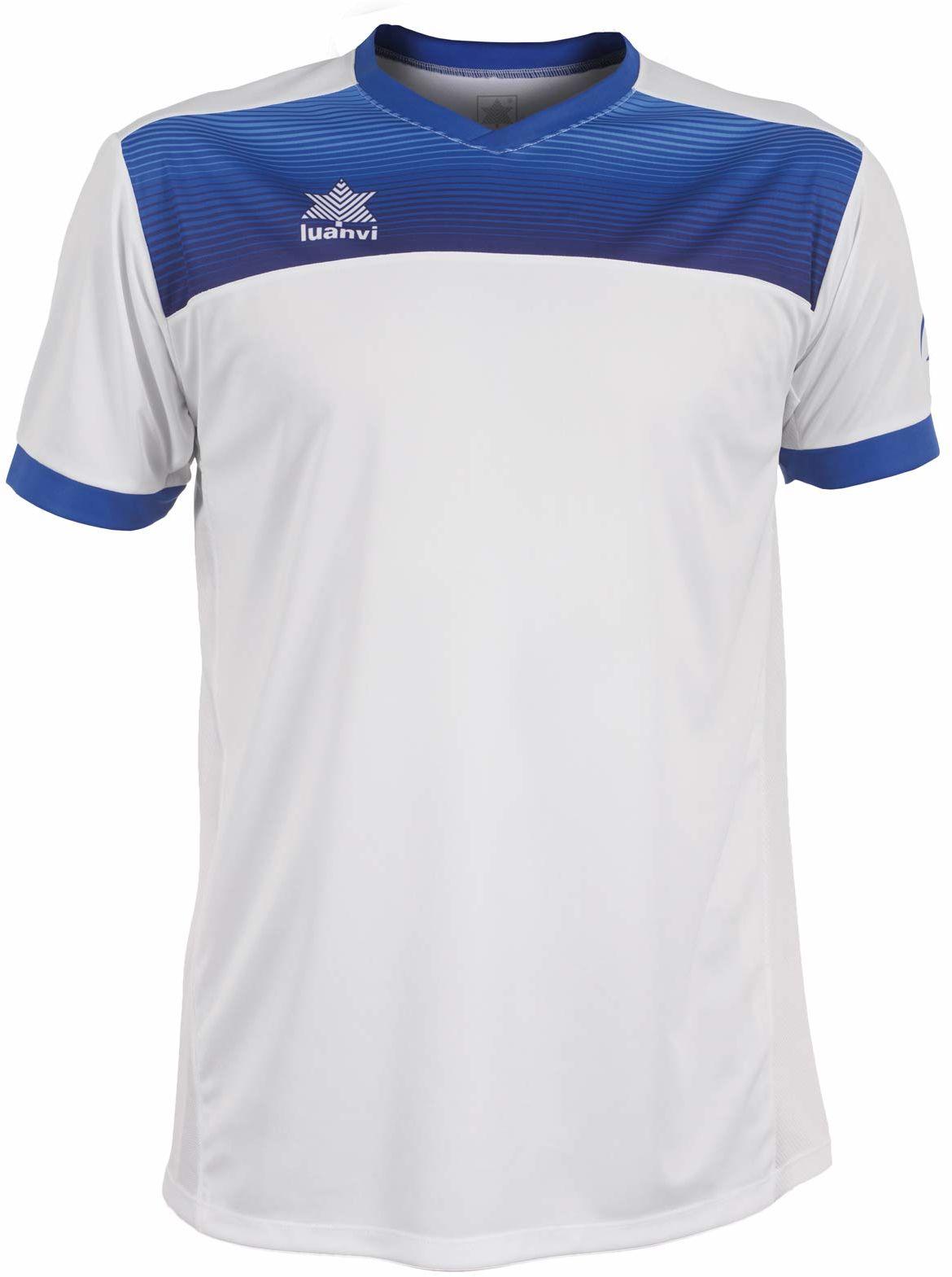 Luanvi Bolton męska koszulka tenisowa z krótkimi rękawami. biały biały XS