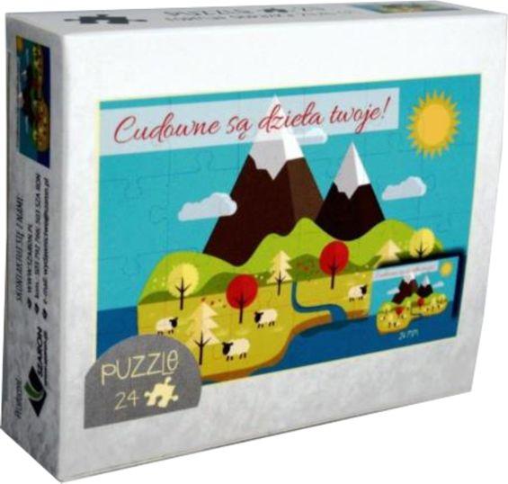 Puzzle 24 - Góry - Cudowne są dzieła Twoje!