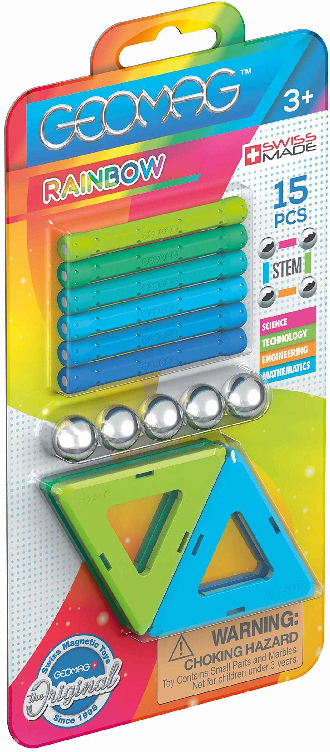 Geomag - Rainbow magnetyczna zabawka konstrukcyjna, wielokolorowa, 15 sztuk, 366
