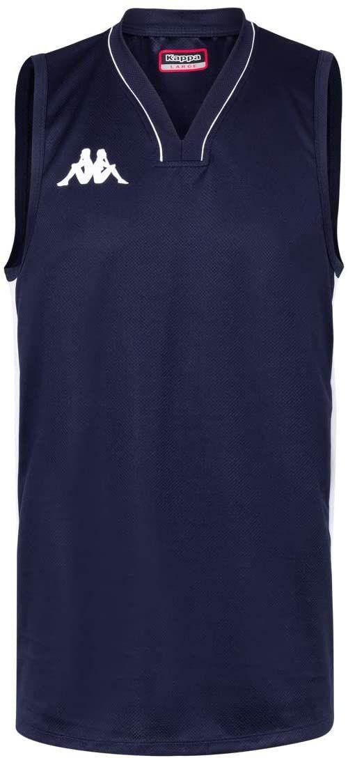 Kappa Cairo koszulka do koszykówki, męska XXL, niebieska/biała