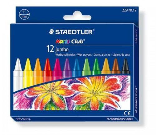 Kredki woskowe STAEDTLER Noris Club Jumbo 12 kolorów 229 NC12