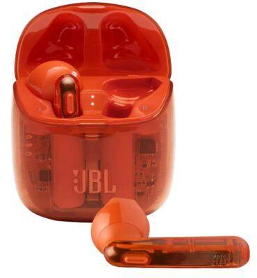 Słuchawki bezprzewodowe JBL Tune 225TWS Ghost pomarańczowy