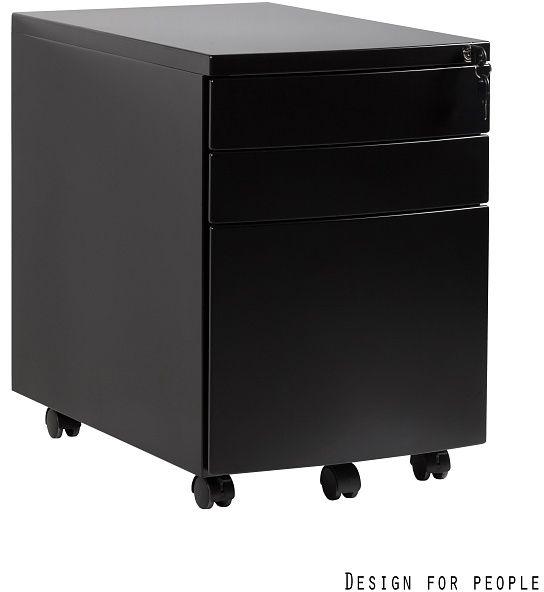 Kontener biurowy RP-01 czarny Unique
