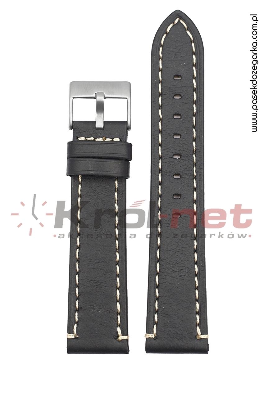 Pasek TK018/B/24 - czarny, przeszywany