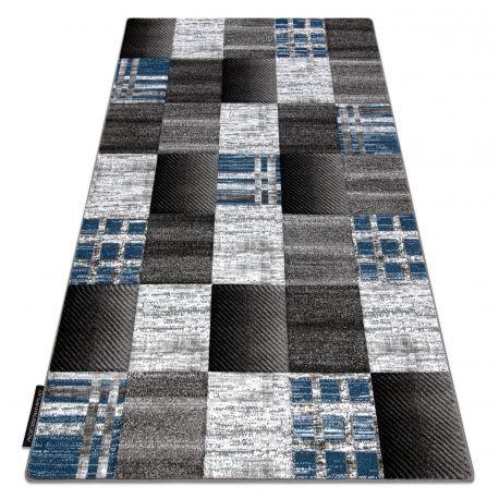 Dywan ALTER Siena Kwadraty kratka niebieski 80x150 cm
