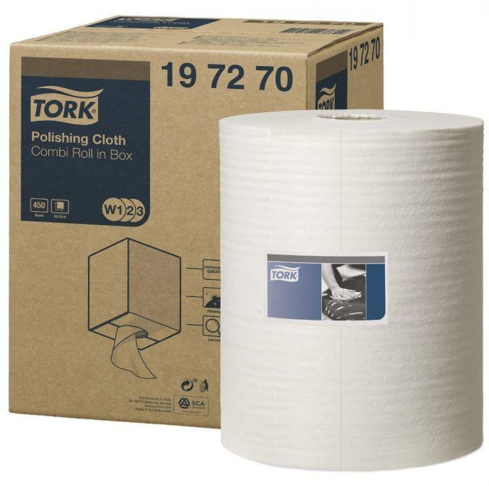 Czyściwo włókninowe do polerowania Tork Premium w małej roli białe
