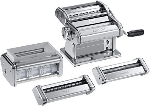 Marcato 0801531200 maszynka do makaronu, ze stali nierdzewnej, srebrna, 5,5 x 32 x 21,5 cm