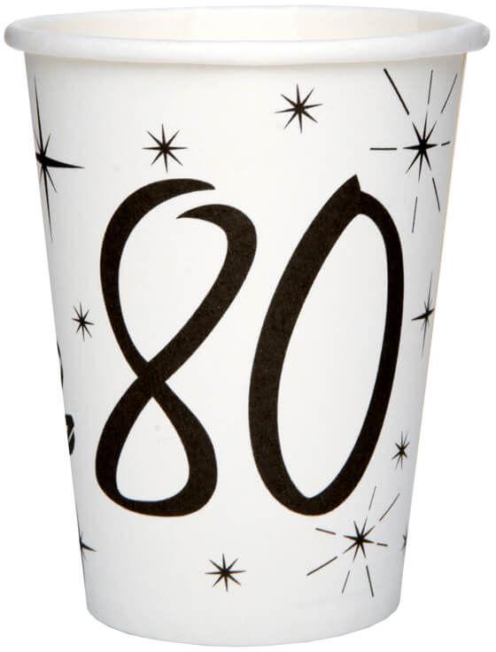 Kubeczki na osiemdziesiąte urodziny 80tka - 10 szt.