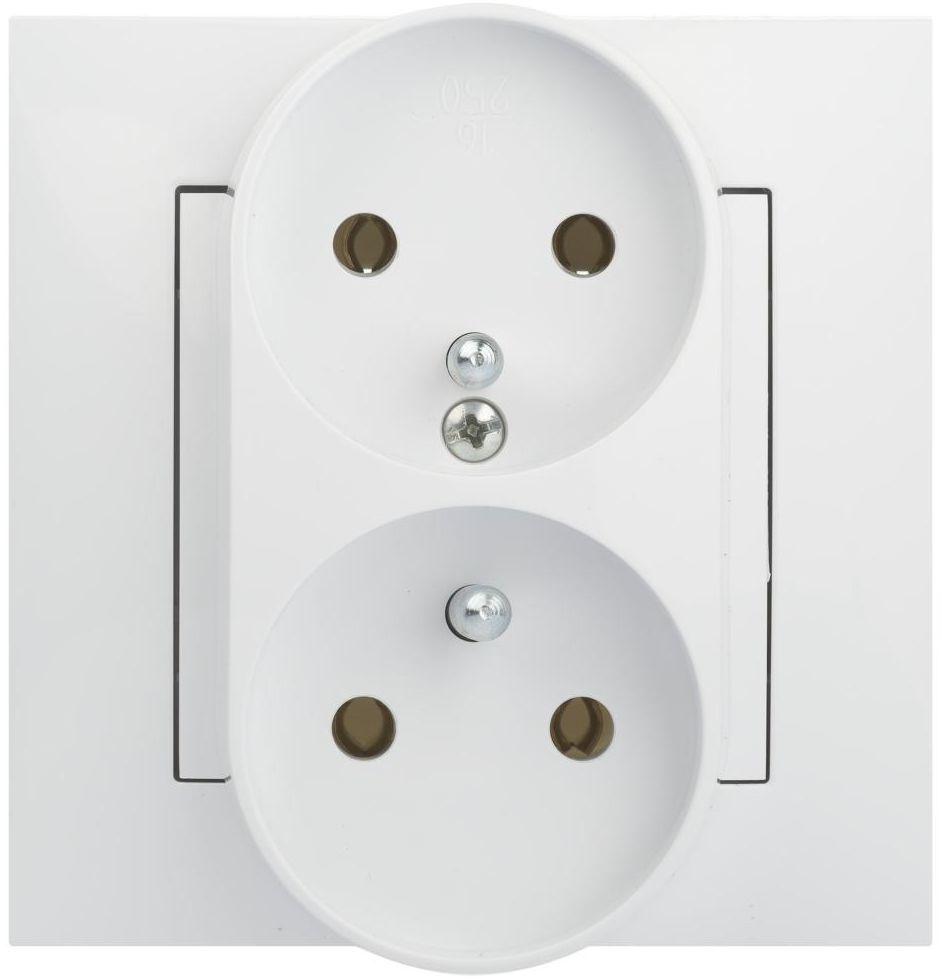 Gniazdo podwójne CARLA Biały ELEKTRO-PLAST