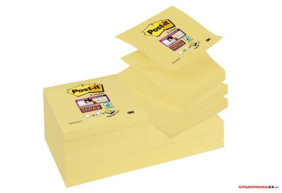 Bloczek samoprzylepny POST-IT_ Super sticky Z-Notes (R330-12SS-CY), 76x76mm, 1x90 kart., żółty