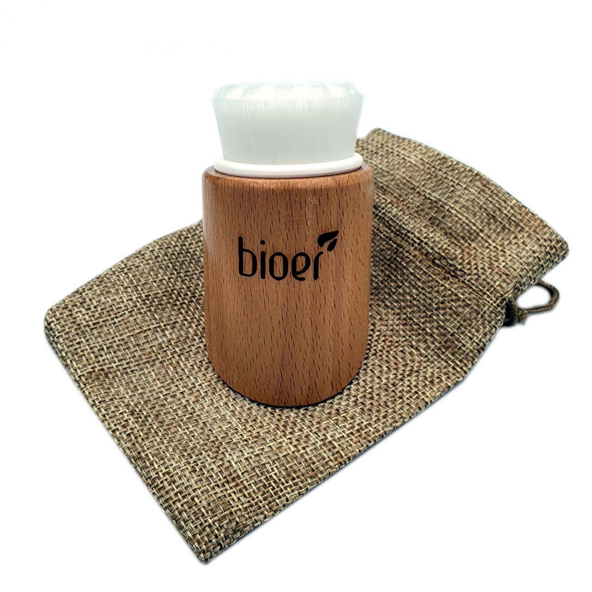 Myjka / Szczotka do peelingu i głębokiego oczyszczania twarzy - włosie białe - Bioer