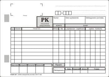 Polecenie księgowania PK / A5 [Pu/K-167]