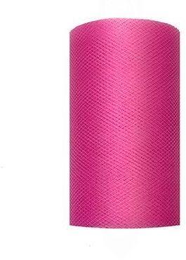 Tiul dekoracyjny ciemny różowy 8cm rolka 20m TIU8-006 - 8CM CIEMNY RÓŻOWY