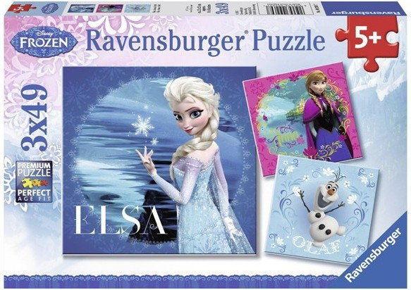 Ravensburger - Puzzle Elsa, Anna i Olaf 3 x 49 elem. 092697