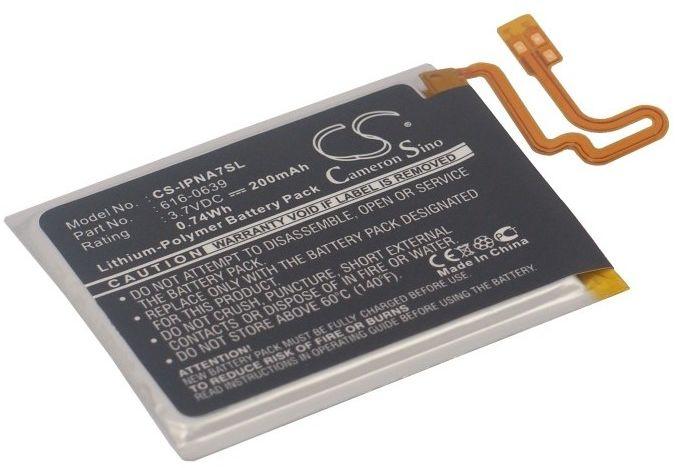 Apple iPod Nano 7th / 616-0639 200mAh 0.74Wh Li-Polymer 3.7V (Cameron Sino)