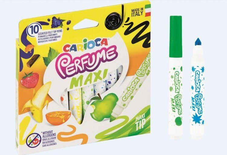 Pisaki zapachowe Perfume Maxi 10 kolorów CARIOCA