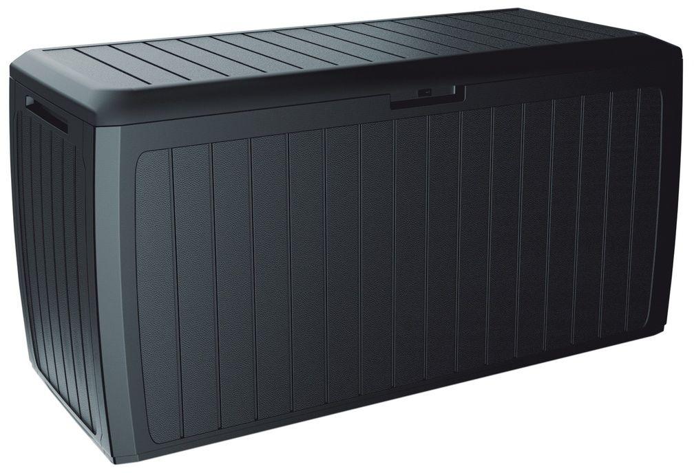 Skrzynia ogrodowa do przechowywania Boxe Board antracyt, 290 l, 116 cm