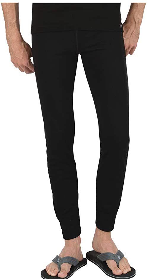 Trigema Bielizna termiczna unisex  dolna część Trigema męskie długie spodnie narciarskie/sportowe czarny czarny (schwarz 008) S