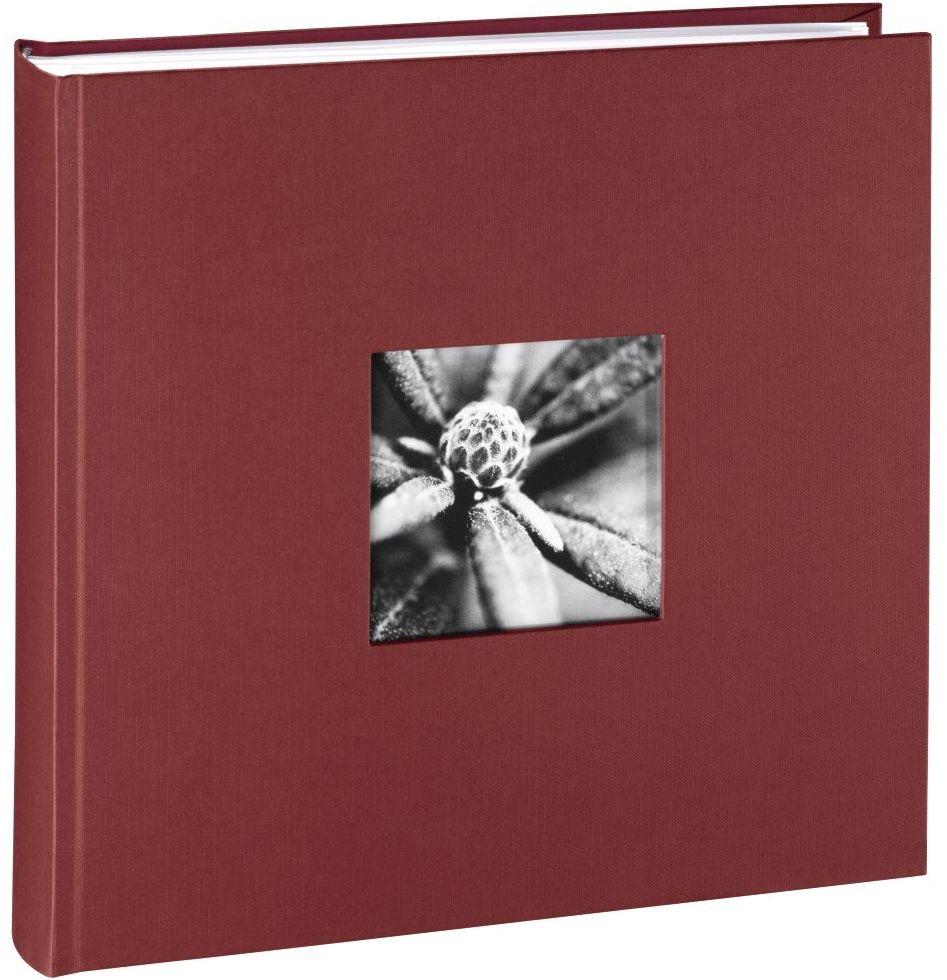 Hama Album fotograficzny Jumbo 30 x 30 cm (fotoksiążka z 100 białymi stronami, album na 400 zdjęć do samodzielnego ozdobienia i wklejania), bordowy