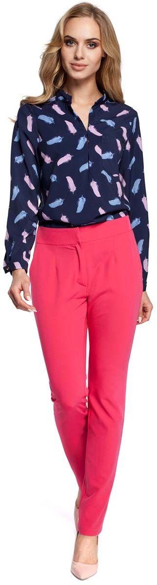 Eleganckie spodnie cygaretki - różowe