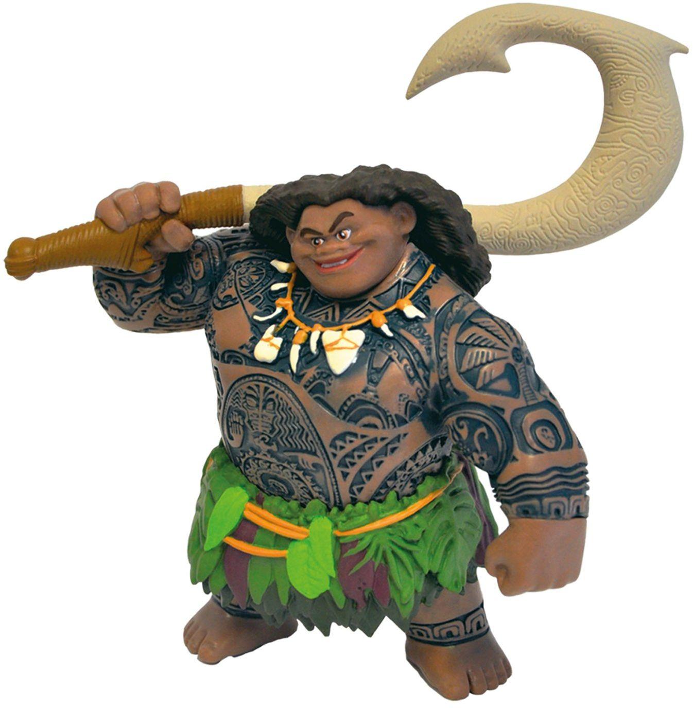 Bullyland BUL-13186 13186  figurka do zabawy, Walt Disney Vaiana, półBoga Maui, starannie ręcznie malowana figurka, bez PCW, wspaniały prezent dla chłopców i dziewczynek do fantazyjnej zabawy