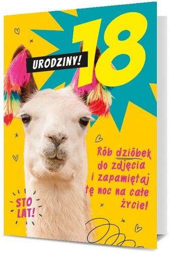 Karnet na 18 urodziny Lama