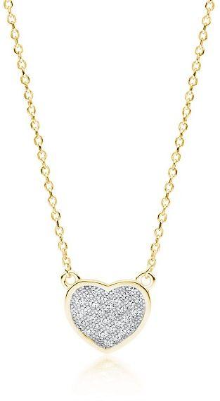 Pozłacany rodowany srebrny naszyjnik serce serduszko cyrkonia cyrkonie celebrytka srebro 925 Z1768NGR