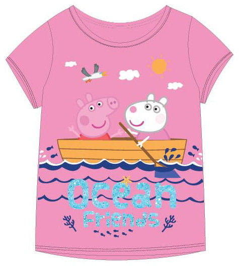 Bluzka dla dziewczynki ŚWINKA PEPPA różowa