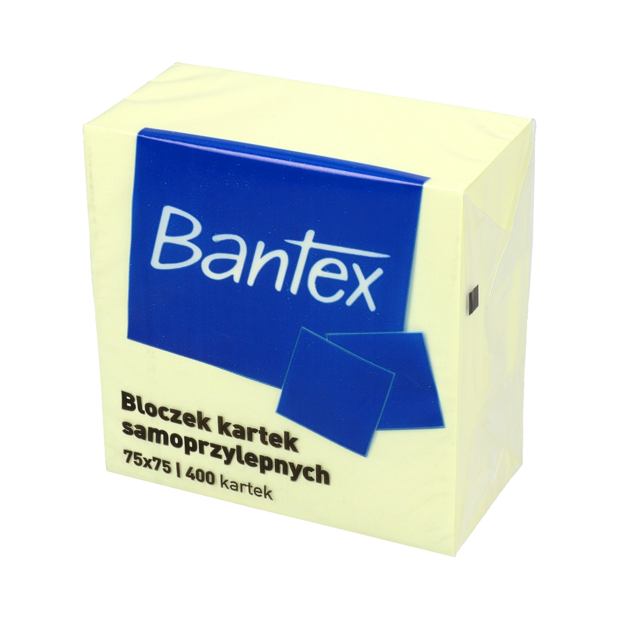 Karteczki samoprzylepne 75x75/400 żółte Bantex 6851
