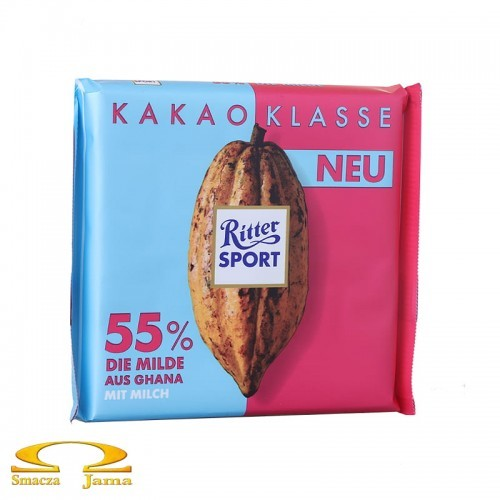Czekolada Ritter Sport 55% kakao z Ghany 100g
