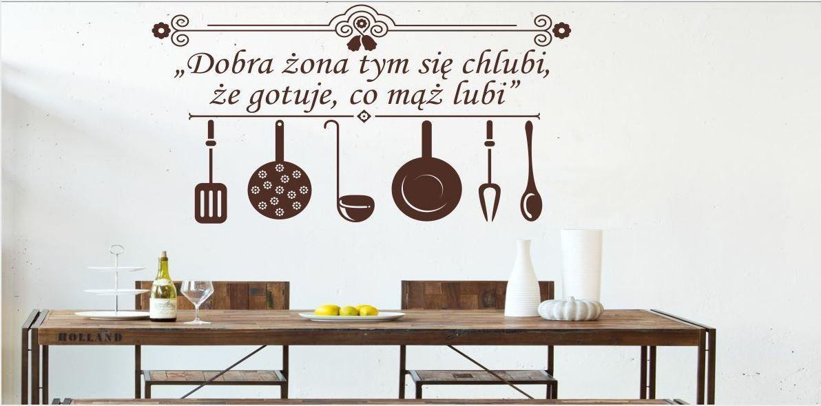 Naklejka do kuchni Dobra żona...