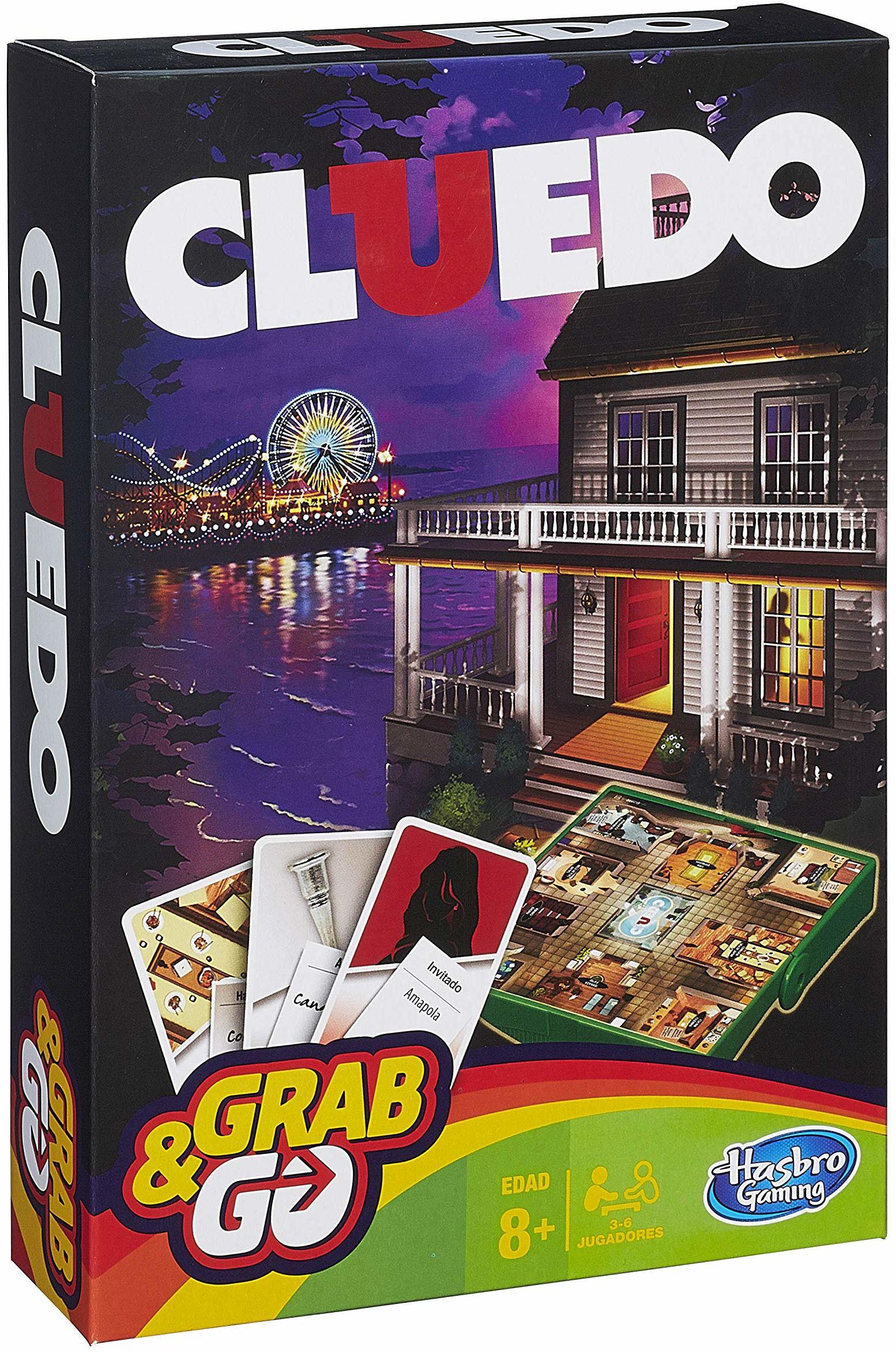Hasbro Gaming Podróżna wersja Cluedo wielokolorowa
