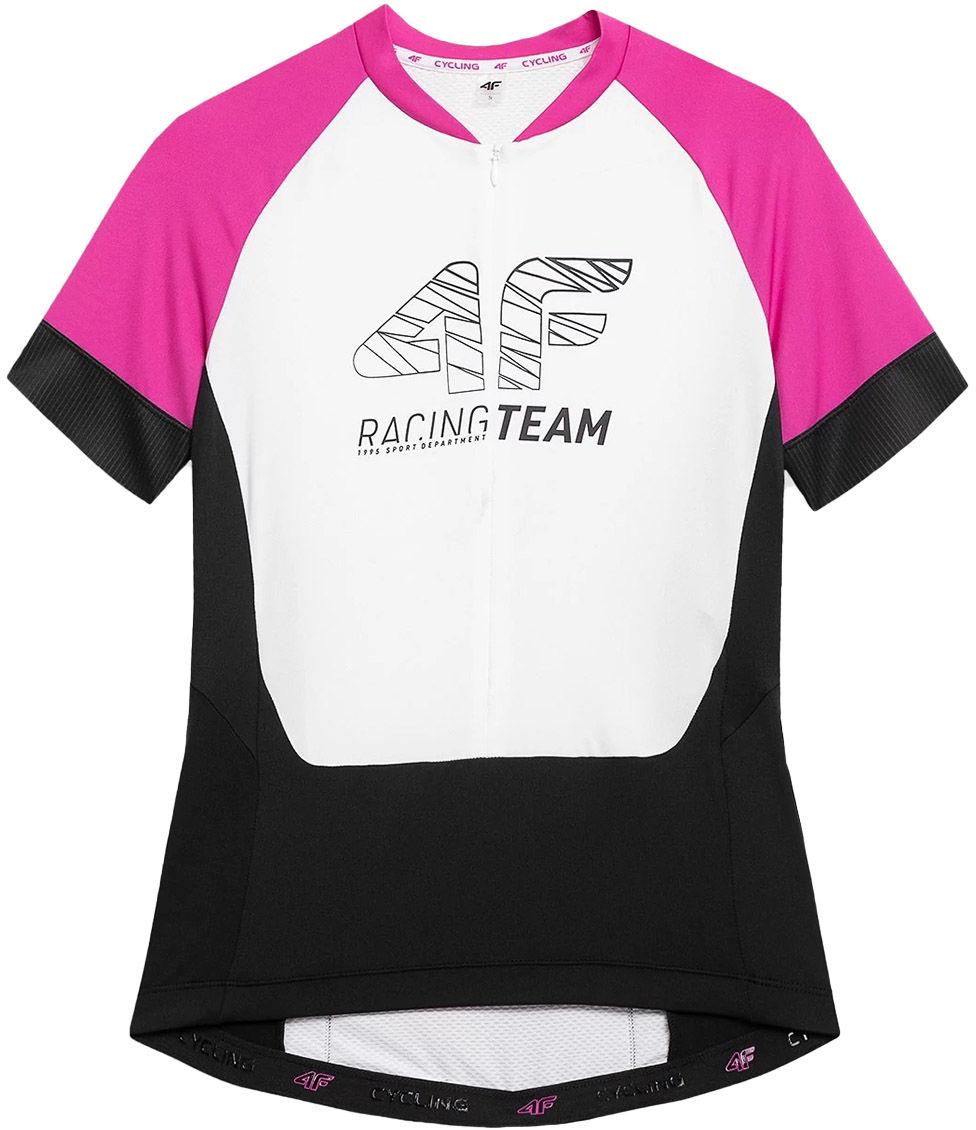 Koszulka rowerowa damska 4F RKD002 - fuksja (H4L21-RKD002-55S)
