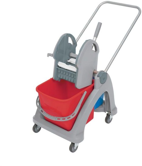 Wózek do sprzątania dwuwiadrowy TS-0003 Splast czerwono-niebieski