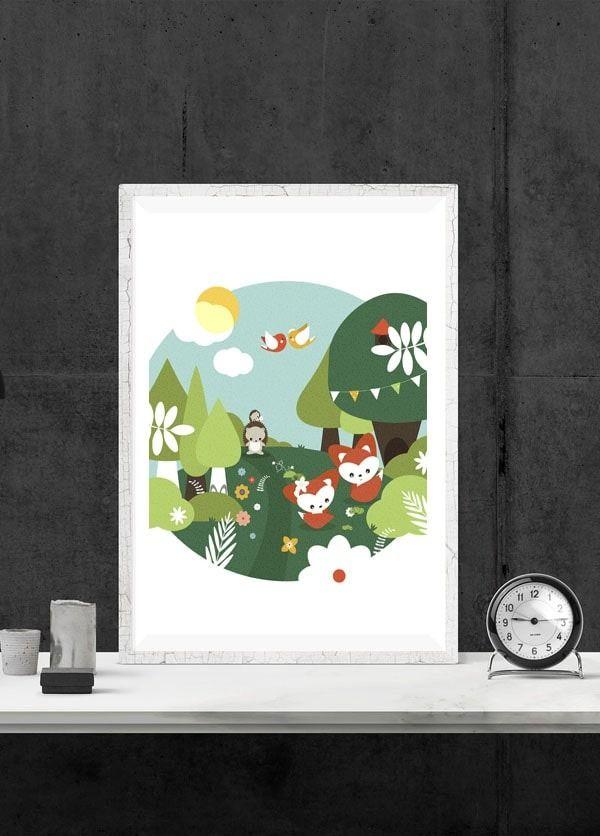 Wiosna w zaczarowanym lesie - plakat wymiar do wyboru: 21x29,7 cm