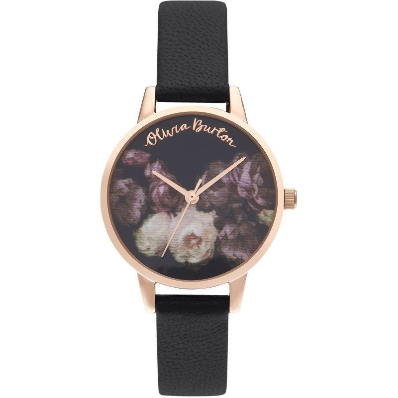 Zegarek damski Olivia Burton Black & Rose Gold OB16WG68