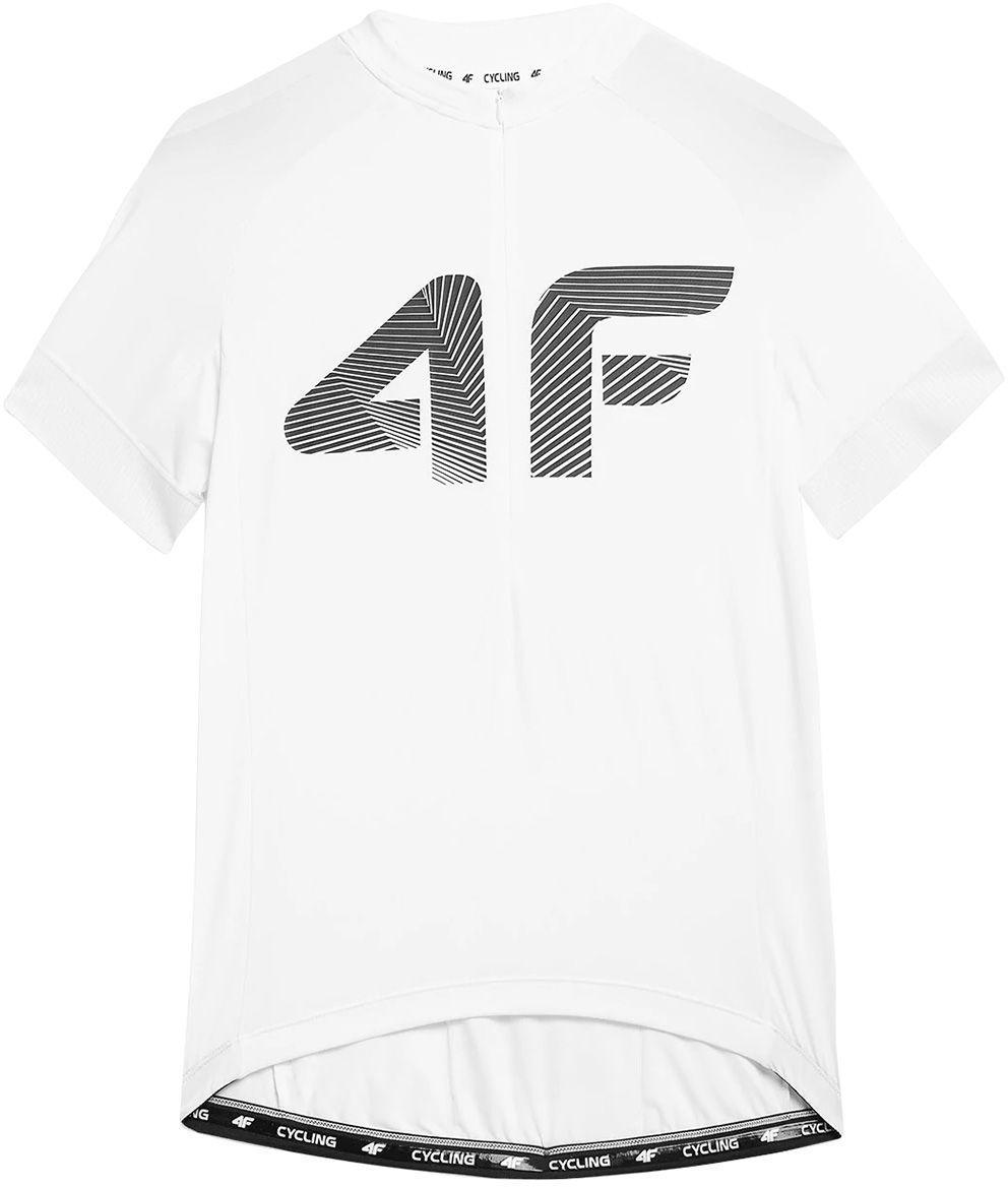 Koszulka rowerowa 4F RKM001 - biała (H4L21 RKM001-10S)