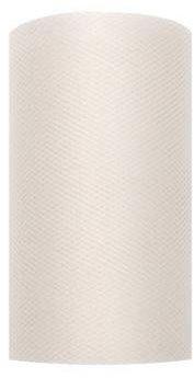 Tiul dekoracyjny kremowy 8cm rolka 20m TIU8-079 - 8CM KREMOWY