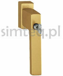 Klamka okienna z kluczem Toulon F4/stare złoto trzpień 32-42 mm