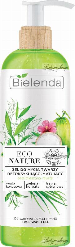 Bielenda - ECO NATURE - DETOXIFYING & MATTIFYING FACE WASH GEL - Detoksykująco-matujący żel do mycia twarzy (cera mieszana i tłusta) - 200 g