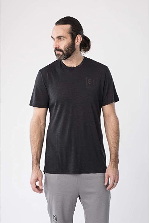 rękawem; krótkim; t-shirt; jet; black; natural; super; melange